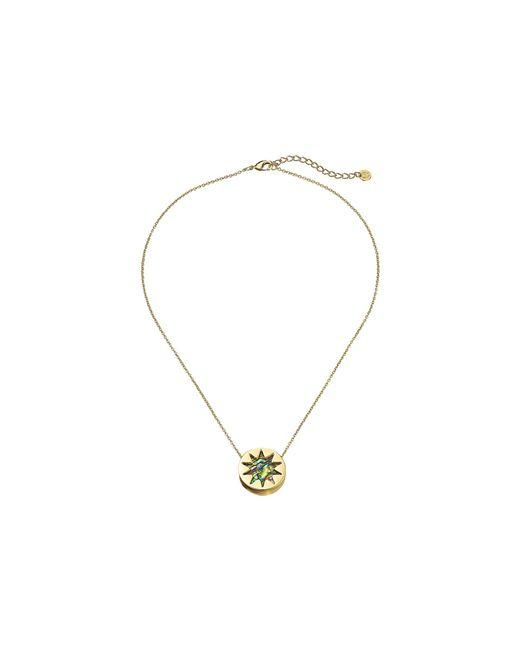 House of Harlow 1960   Metallic Abalone Mini Sunburst Pendant Necklace   Lyst