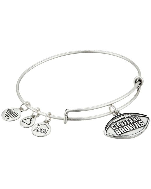 ALEX AND ANI | Metallic Nfl Cleveland Browns Football Bangle | Lyst