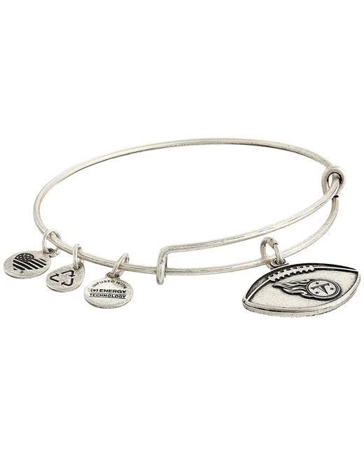 ALEX AND ANI | Metallic Nfl Tennessee Titans Football Bangle | Lyst