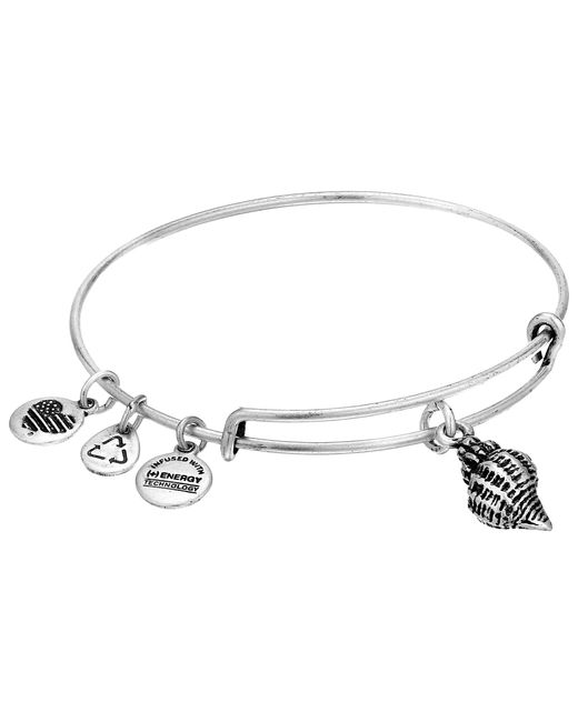 ALEX AND ANI | Metallic Conch Shell Charm Bangle | Lyst