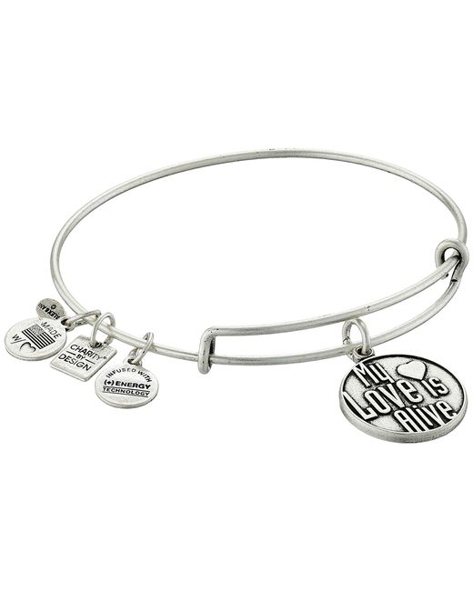 ALEX AND ANI   Metallic Charity By Design My Love Is Alive Charm Bangle   Lyst