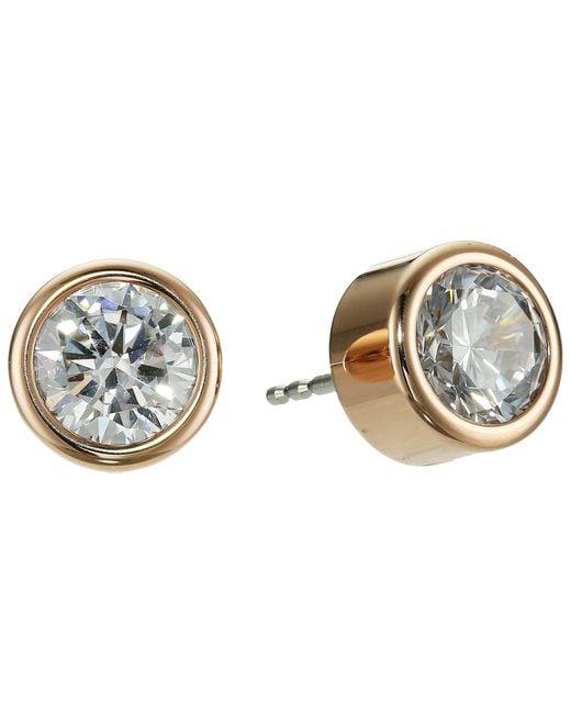 Michael Kors | Metallic Park Avenue Glam Stud Earrings | Lyst