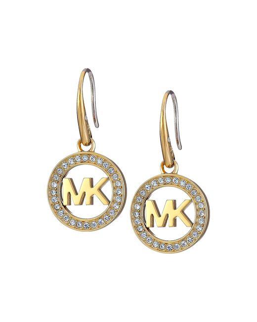 Michael Kors | Metallic Logo Drop Earrings | Lyst