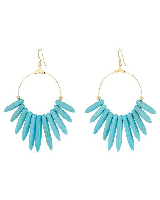 Kenneth Jay Lane | Blue 6794et Spikes , Gold Hoop Fishhook Earrings | Lyst