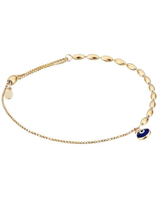 ALEX AND ANI   Metallic Evil Eye Fancy Bead Pull Chain Bracelet   Lyst