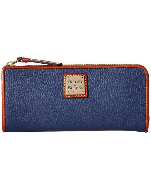 Dooney & Bourke - Blue Pebble Zip Clutch - Lyst