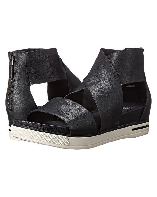 Eileen Fisher | Black Sport Wide-strap Leather Sandal | Lyst