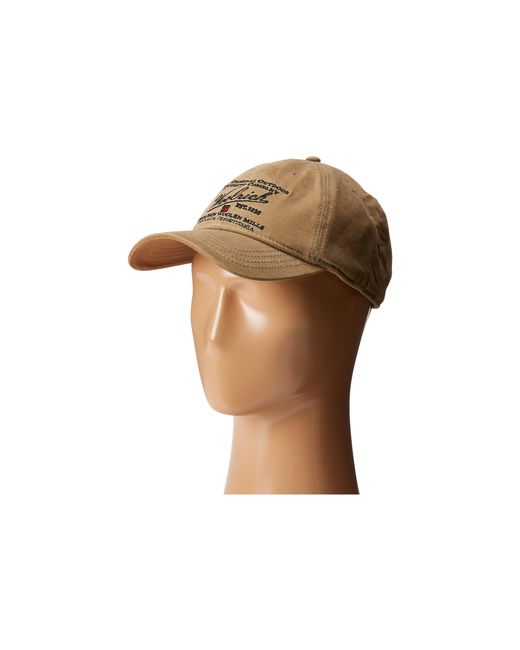 Woolrich   Brown Oil Cloth Ball Cap With Embroidery for Men   Lyst