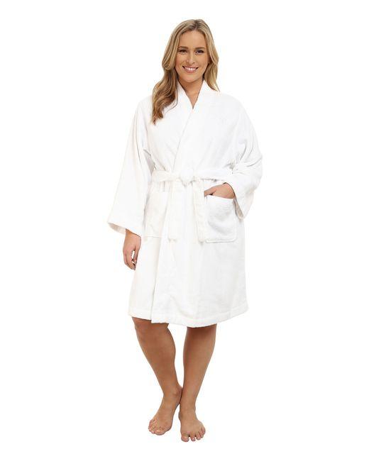 Lauren by Ralph Lauren | White Plus Size Greenwich Robe | Lyst