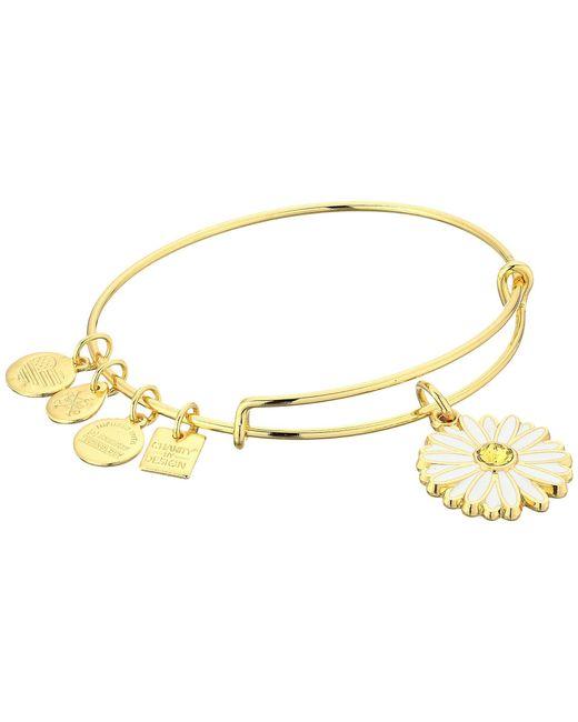 ALEX AND ANI - Metallic Charity By Design Daisy Bangle (shiny Gold) Bracelet - Lyst