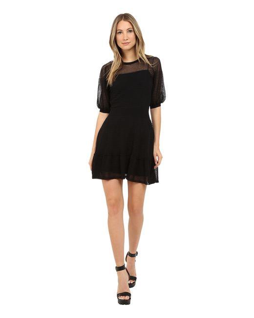 RED Valentino | Black Cotton Yarn Organza Dress | Lyst