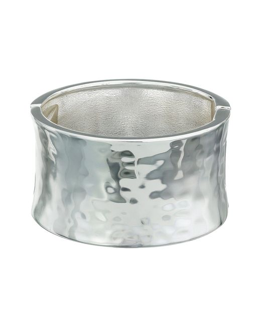 Robert Lee Morris | Metallic Wide Hammered Hinge Bangle Bracelet | Lyst