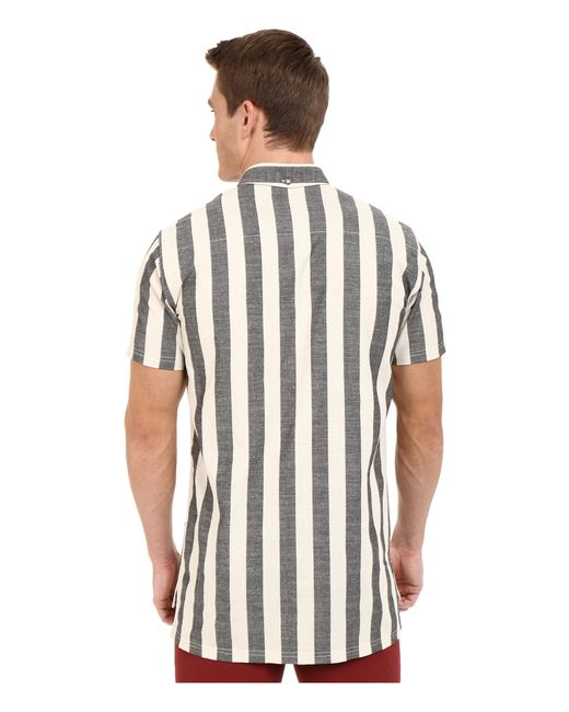 Publish Kenzie Vertical Stripe Cotton Button Down Shirt