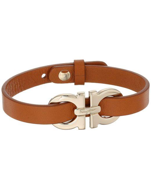 Ferragamo | Brown 346639 Gancio Bracelet | Lyst