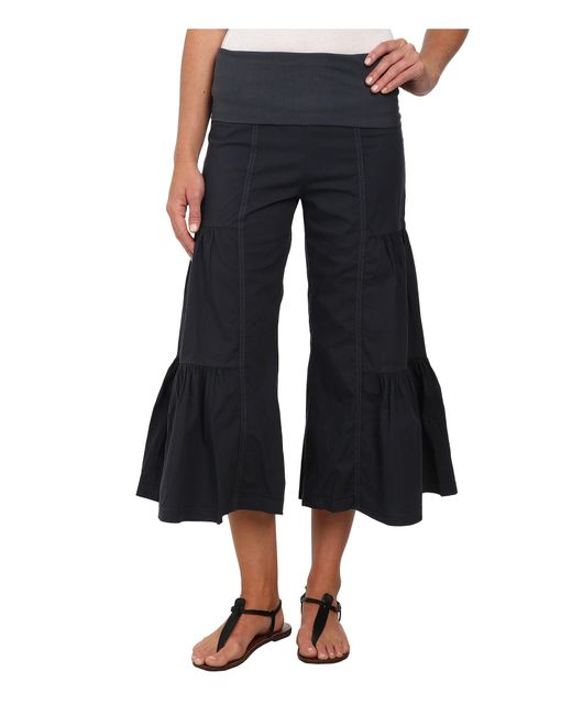 XCVI - Gray Cropped Side Tier Palazzo - Lyst