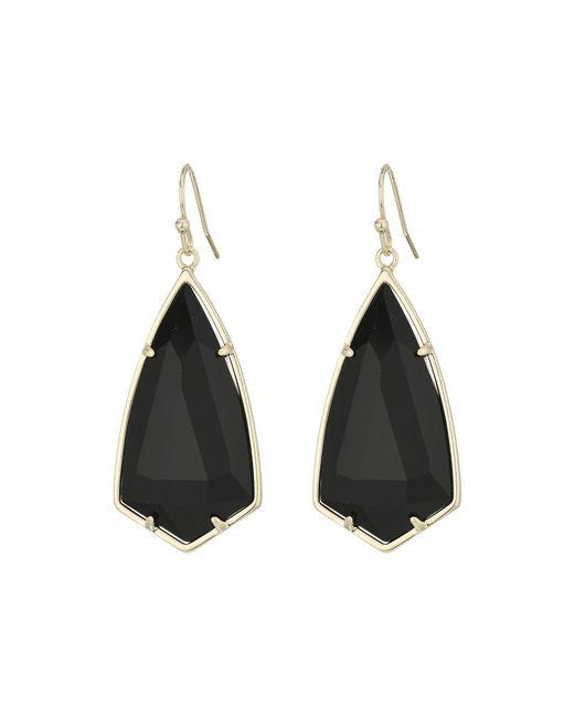 Kendra Scott | Black Carla Earrings | Lyst