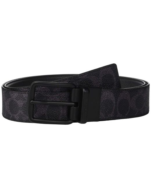 8551d3220c6c COACH - Blue Wide Harness Signature Reversible Belt (charcoal black) Men s  Belts for ...