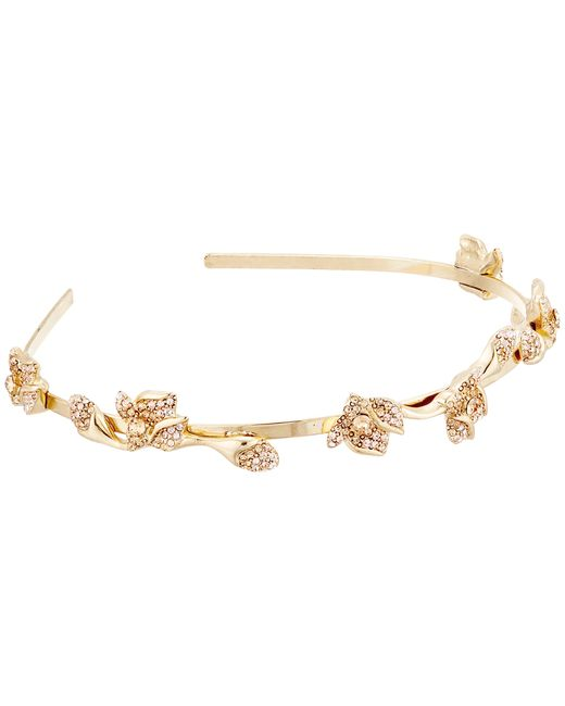 Oscar de la Renta | Metallic Gradient Crystal Flower Headband | Lyst