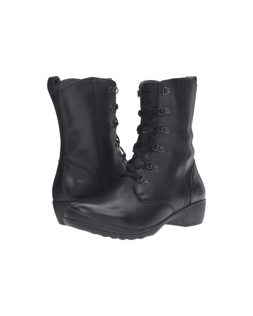 Bogs | Black Carrie Lace Mid Boot | Lyst