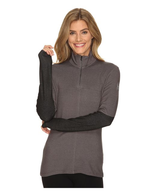 Spyder | Gray Lapis Therma Stretch T-neck Top | Lyst