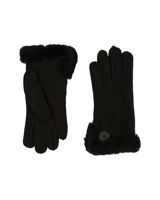 UGG | Black Side Vent Bailey Glove | Lyst