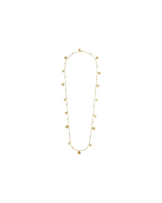 Tory Burch - Multicolor Bellflower Rosary Necklace (pearl/brass) Necklace - Lyst