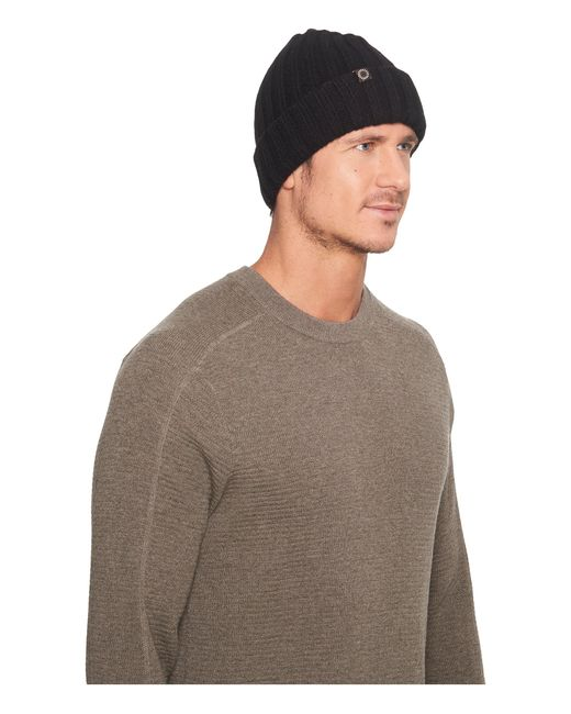Ugg | Black Ribbed Cuff Hat for Men | Lyst