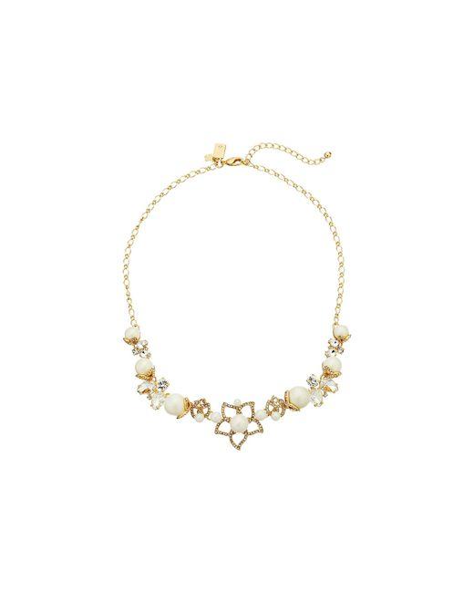 Kate Spade | Metallic Pearl Bouquet Flower Graduated Necklace | Lyst