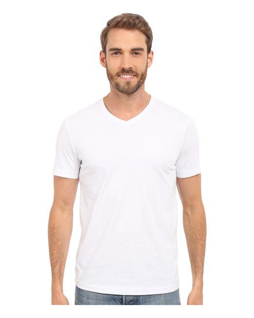 Mod-o-doc | White Del Mar Short Sleeve V-neck Tee for Men | Lyst