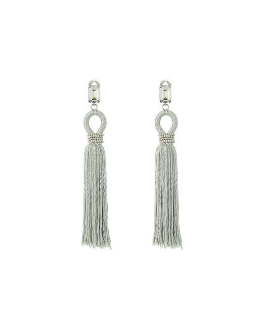 Oscar de la Renta | Blue Long Silk Tassel C Earrings | Lyst