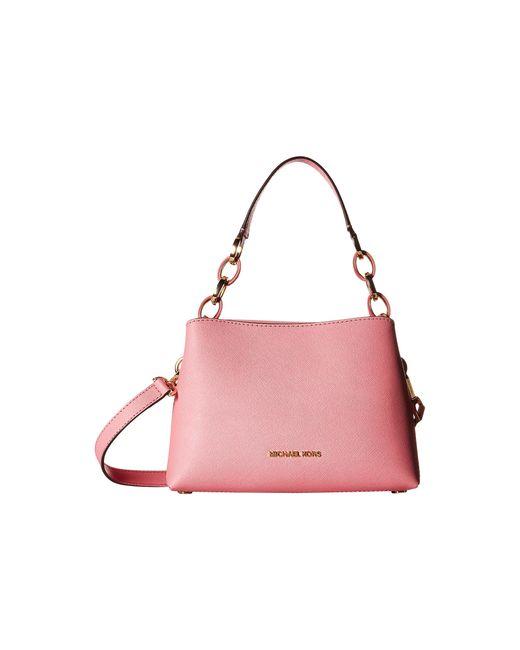 MICHAEL Michael Kors   Pink Selma Medium Saffiano Messenger Bag   Lyst