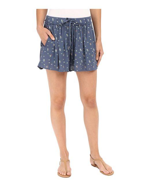 Splendid | Blue Primrose Ditsy Shorts | Lyst
