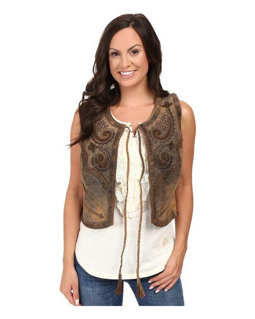 Double D Ranchwear | Brown Bianchi Saddle Bag Vest | Lyst