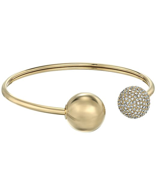 michael kors brilliance bracelet in gold gold clear lyst. Black Bedroom Furniture Sets. Home Design Ideas