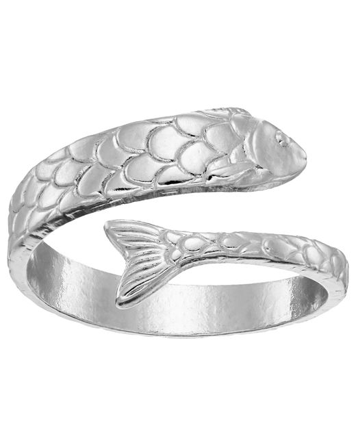 ALEX AND ANI | Metallic Fish Wrap Ring | Lyst