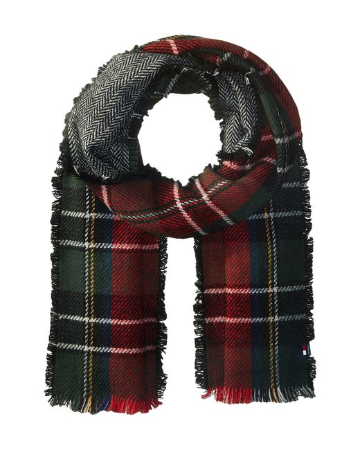 Tommy Hilfiger | Red Reversible Herringbone Tartan | Lyst