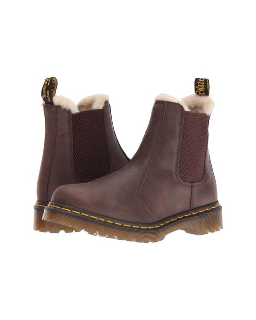 Dr. Martens | Brown Leonore Chelsea Boots | Lyst