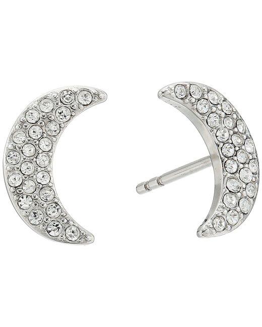 Fossil | Metallic Glitz Moon Earrings Jackets | Lyst