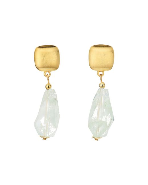 Kenneth Jay Lane | Multicolor Satin Gold Top With Jade Drop Earrings | Lyst