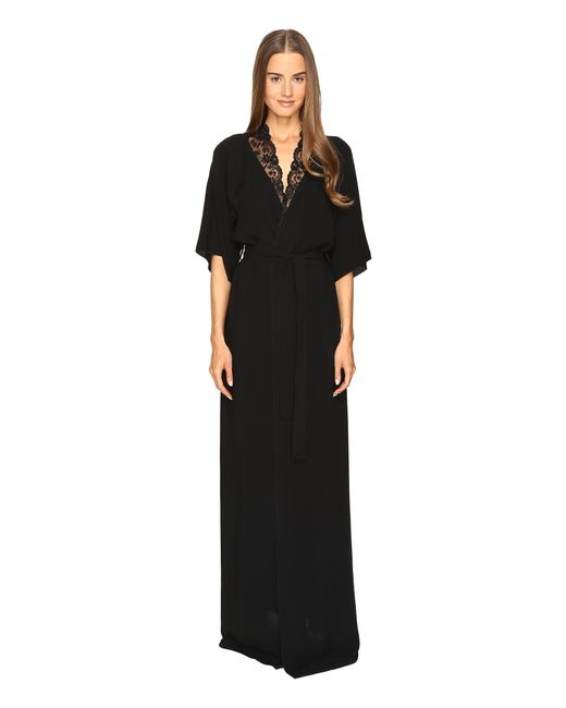 La Perla | Black Stolen Roses Robe | Lyst