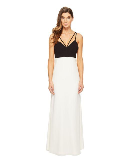 JILL Jill Stuart   White Strappy Two-tone Gown   Lyst
