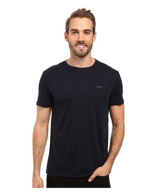 Calvin Klein | Metallic Short Sleeve Pima Cotton Crew T-shirt for Men | Lyst