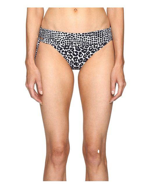 Stella McCartney | Blue Mixed Animal And Elastic Fold Down Bikini Bottom | Lyst