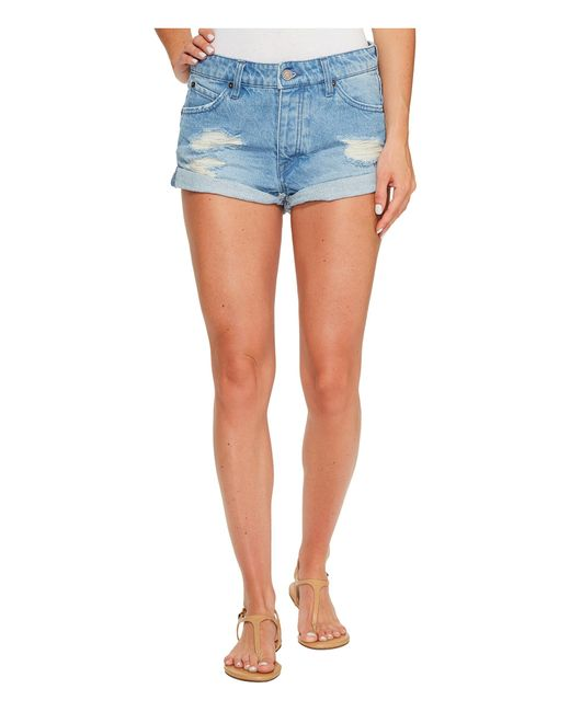 Volcom | Blue Stoned Shorts Rolled | Lyst