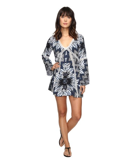 Red Carter | Indigo Blues Rayon Tunic Cover-up | Lyst