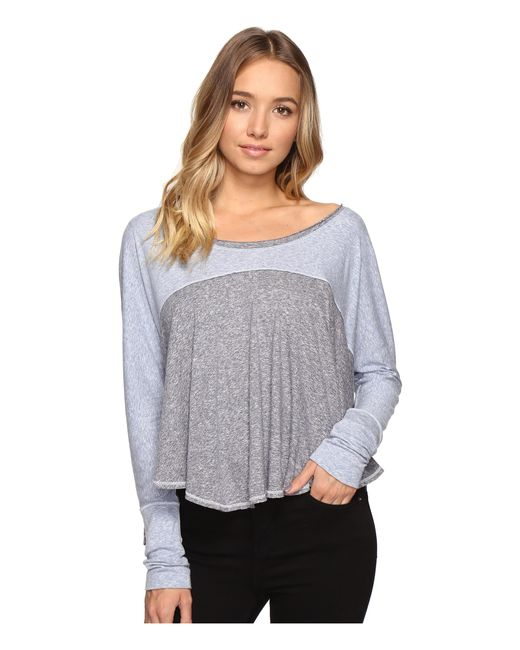 Free People | Blue Cloud Nine Tee | Lyst