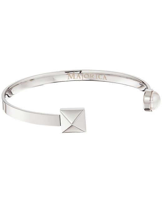 Majorica   White Why Not? Silver Bangle   Lyst