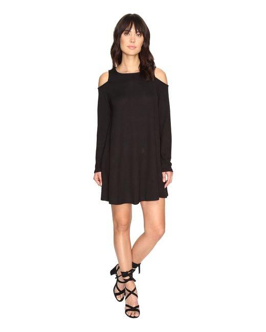 Culture Phit | Black Vera Long Sleeve Cold Shoulder Dress | Lyst