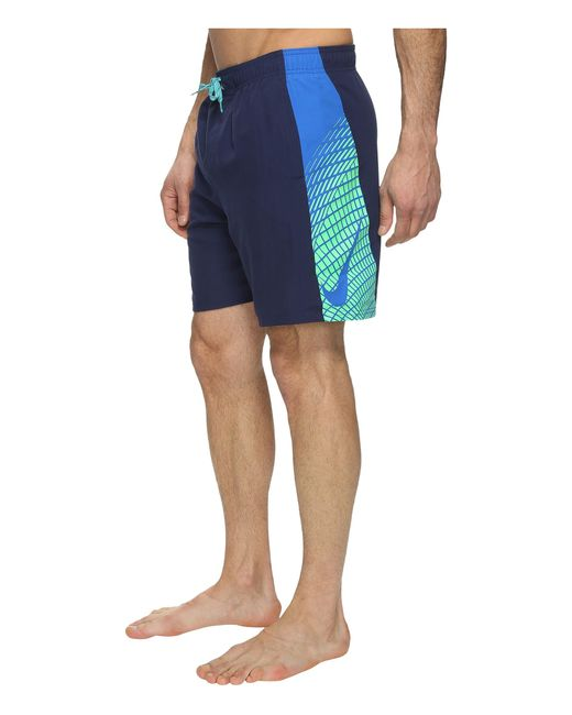 "Nike | Blue Clash 7"" Volley Shorts for Men 