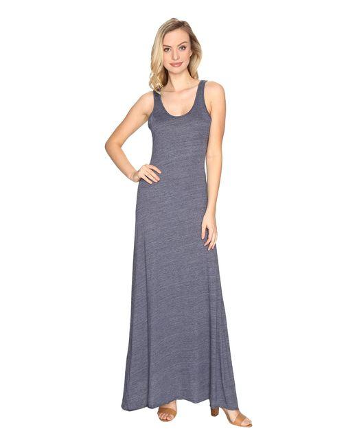 Alternative Apparel | Blue Eco Jersey Double Scoop Tank Dress | Lyst